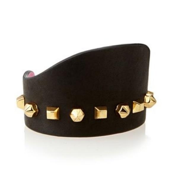 9fa7df97e Vince Camuto black leather stud cuff bracelet. M_5a678299f9e5012d787d125b
